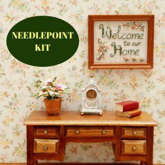 sampler kit dollhouse needlepoint embroidery