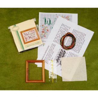 Welcome home dollhouse miniatures sampler kit needlepoint cross stitch
