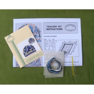 Willow pattern teacosy dollhouse needlepoint petit point embroidery kit decoration