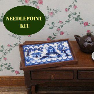 tray cloth kit dollhouse needlepoint embroidery