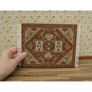 Yvonne olive dollhouse miniature needlepoint embroidery carpet rug kit