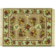 Alice, large (green) dollhouse needlepoint carpet