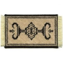 Alison (charcoal) dollhouse needlepoint carpet