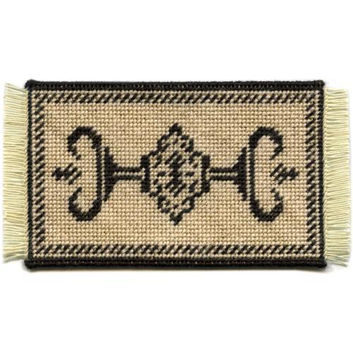 Alison (charcoal) dollhouse needlepoint carpet