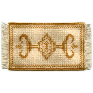 Alison (gold) dollhouse needlepoint carpet