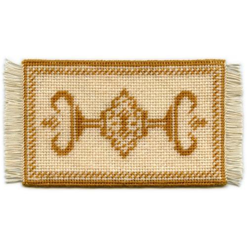 Alison (gold) dollhouse needlepoint carpet