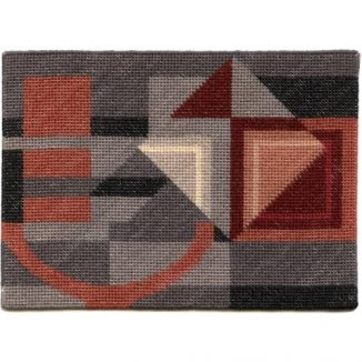 Alma (grey) dollhouse needlepoint carpet