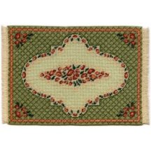 Barbara large (green) dollhouse needlepoint carpet