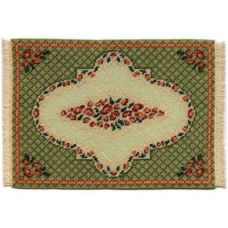 Barbara large (green) dollhouse needlepoint carpet