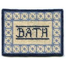 Bathmat (blue) dollhouse needlepoint carpet