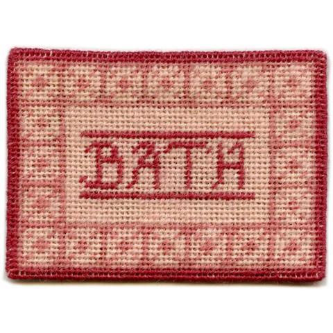 Bathmat (pink) dollhouse needlepoint carpet