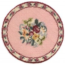 Bella dollhouse needlepoint carpet