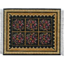 Berlin Woolwork, large, dollhouse needlepoint carpet