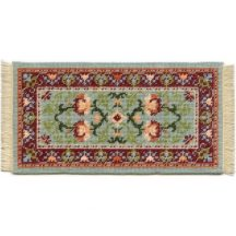 Carole (jade) dollhouse needlepoint carpet