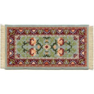 Carole (jade) dollhouse needlepoint carpet