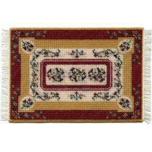 Esther, small, dollhouse needlepoint carpet