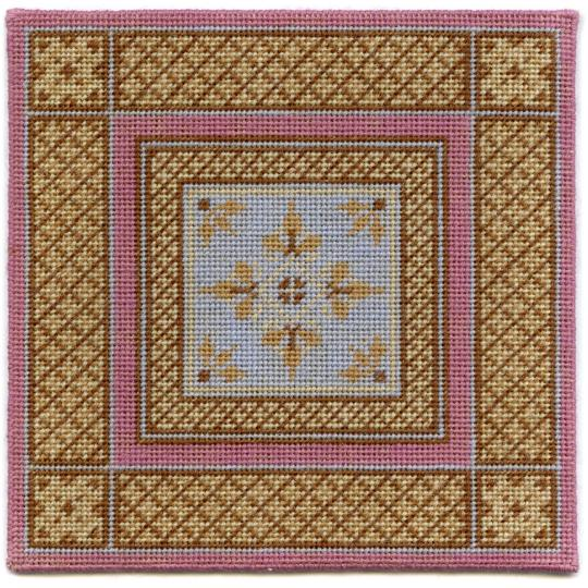 Isobel dollhouse needlepoint carpet