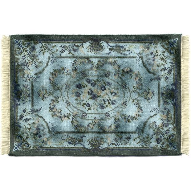 Kate large (blue) dollhouse needlepoint carpet