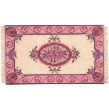 Lilian (pink) dollhouse needlepoint carpet