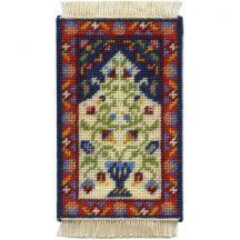 Natalia dollhouse needlepoint carpet