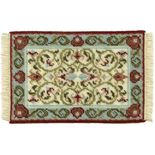Prudence (cream) dollhouse needlepoint carpet