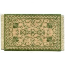 Rosanna (green) dollhouse needlepoint carpet