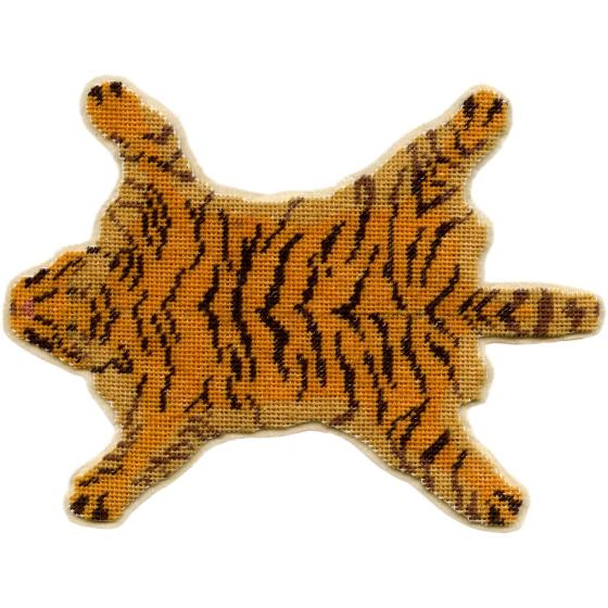 Tiger-skin dollhouse needlepoint carpet