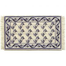 Veronica (blue) dollhouse needlepoint carpet