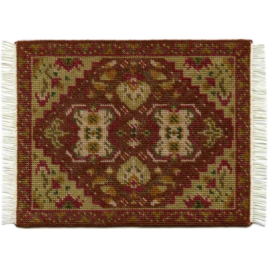 Yvonne (olive) dollhouse needlepoint carpet