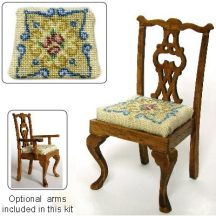 Dollhouse needlepoint dining chair kit, Judith