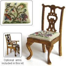 Dollhouse needlepoint dining chair kit, Tree Of Life