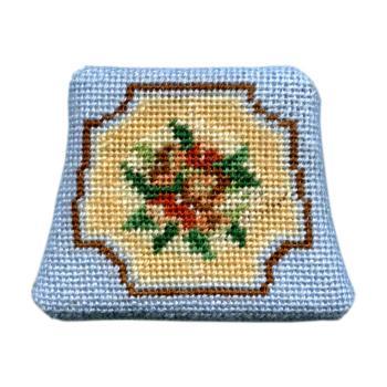 Dollhouse needlepoint chair seat kit, Alice (blue)