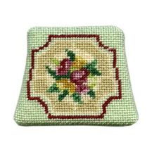 Dollhouse needlepoint chair seat kit, Alice (green)