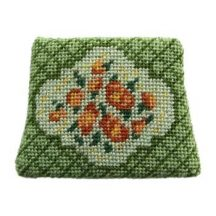 Dollhouse needlepoint chair seat kit, Barbara Green