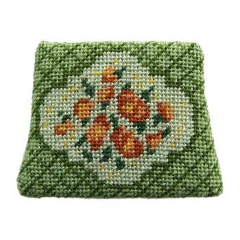 Dollhouse needlepoint chair seat kit, Barbara Green