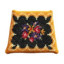 Dollhouse needlepoint chair seat kit, Berlin Woolwork