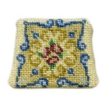 Dollhouse needlepoint chair seat kit, Judith