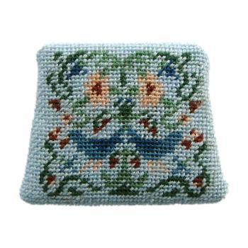 Dollhouse needlepoint chair seat kit, Strawberry Thief