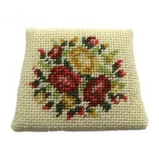 Dollhouse needlepoint chair seat kit, Summer Roses