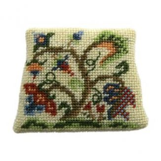 Dollhouse needlepoint dining chair seat kit, Tree Of Life