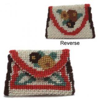 Dollhouse needlepoint clutch bag kit - Deco Posy