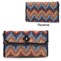 Dollhouse needlepoint clutch bag kit - Bargello (peach)