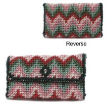 Dollhouse needlepoint clutch bag kit - Bargello (pink)