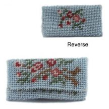 Dollhouse needlepoint clutch bag kit - Bouquet