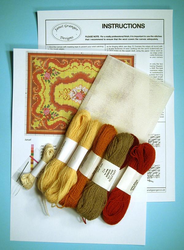 Contents of a carpet kit