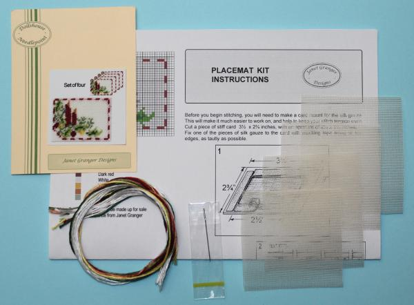 Contents of a placemat kit