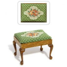 Dollhouse needlepoint rectangular Stool kit, Barbara Green