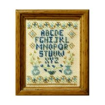 Blue Vases dollhouse needlepoint sampler kit