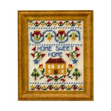 Home Sweet Home dollhouse needlepoint sampler kit