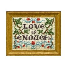 Love Is Enough dollhouse needlepoint sampler kit